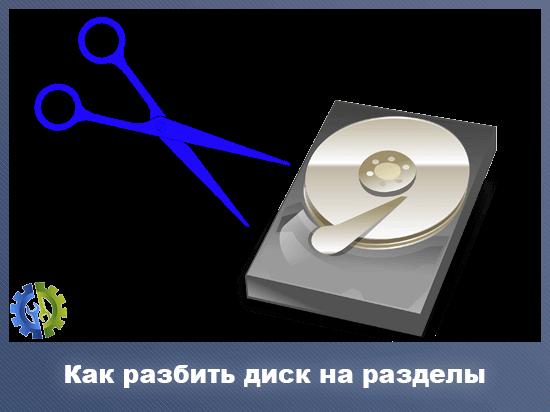 Как разбить диск на разделы
