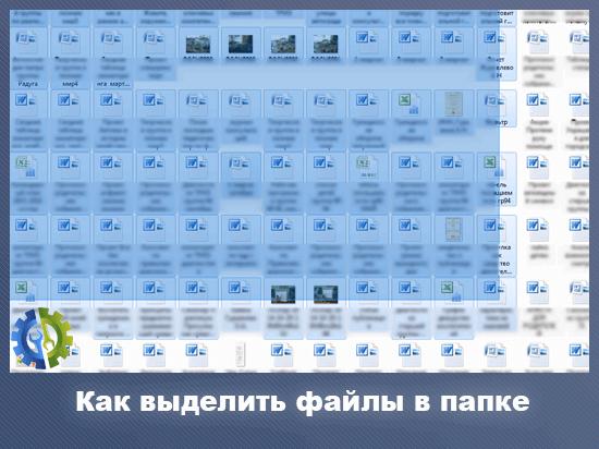 Как выделить файлы в папке