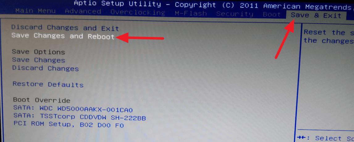 BIOS - Save & Exit
