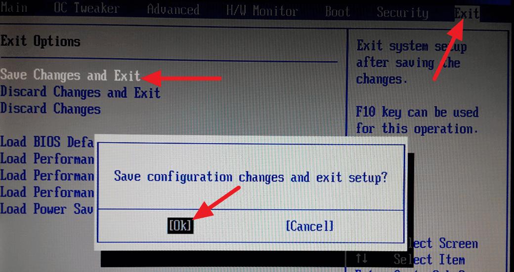 BIOS - Exit